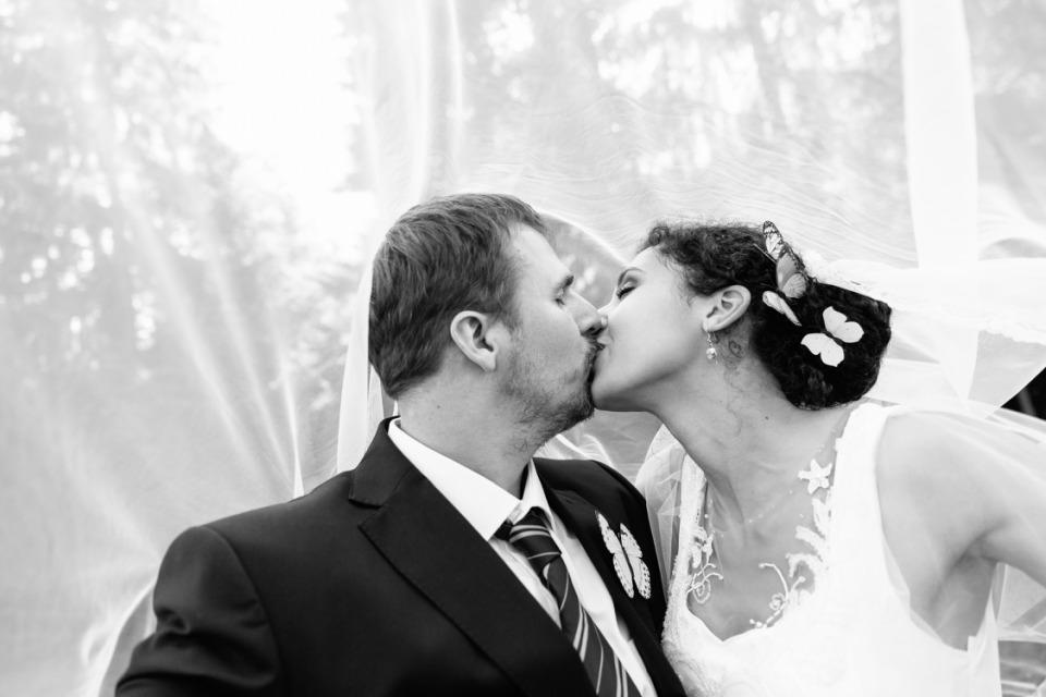 photographe mariage haute savoie voile mariée