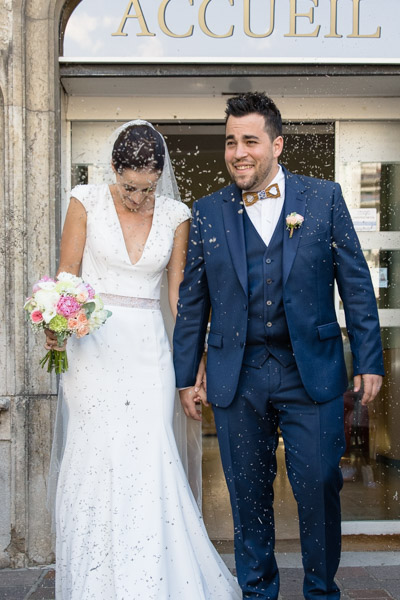 Mariage à la mairie d'Aix-les-Bains en Savoie par Cecile photographie