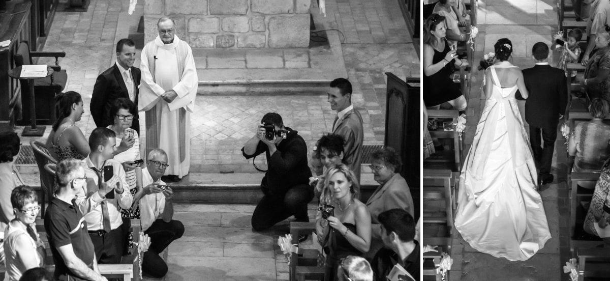l'entrée des mariés dans l'église de Yenne