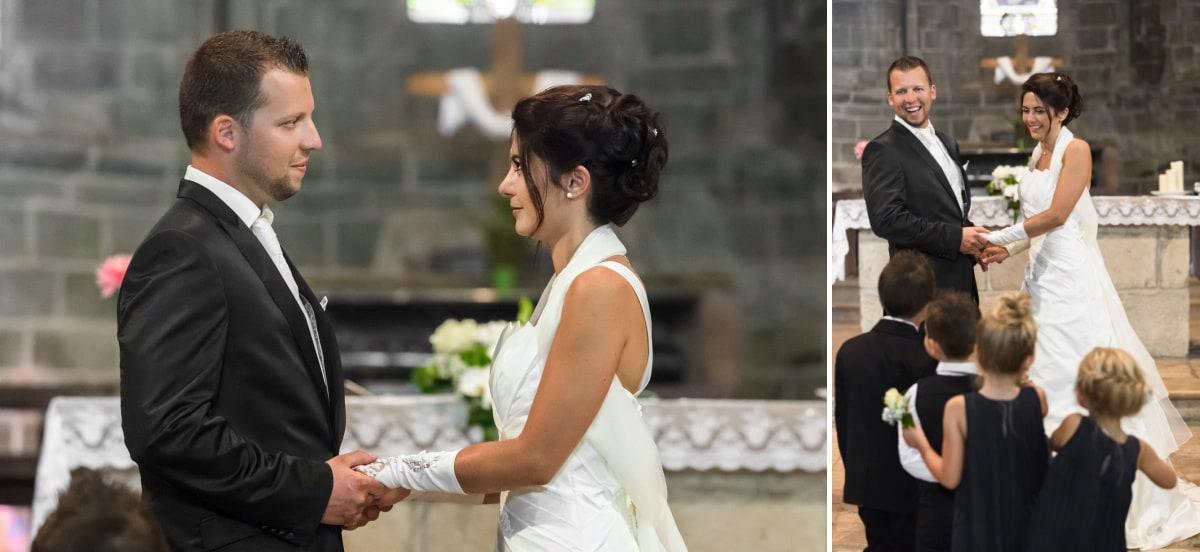 L'échange des consentements des mariés à l'église de Yenne