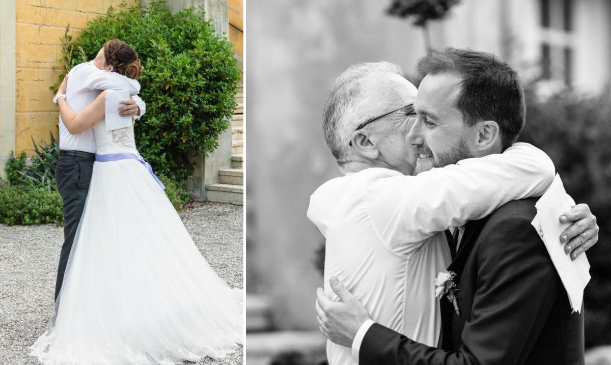 embrassades après le discours
