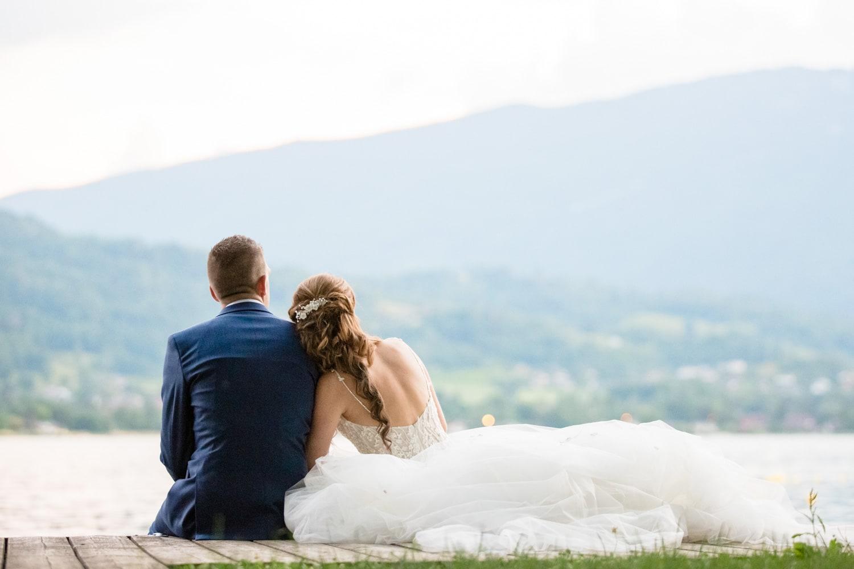 photo de mariage au bord du lac d'Annecy à Talloires